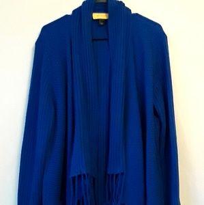 St John Cashmere Sweater Shawl Cardigan Large